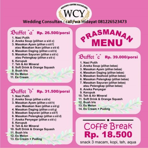 Kami Catering Jogja Yang Bisa Test Food Dicicipi Dulu Pusat Wedding Organizer Yogyakarta